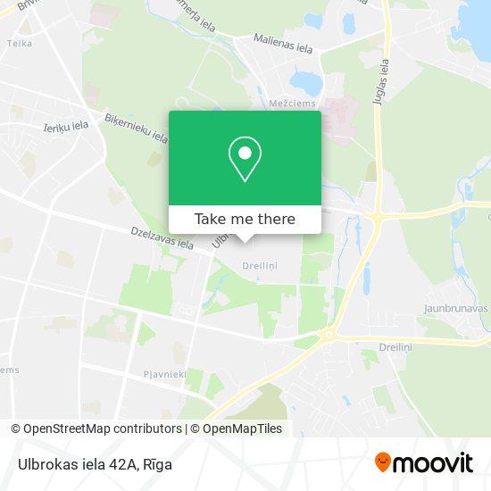 Ulbrokas iela 42A map