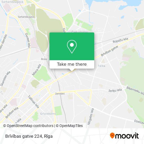 Brīvības gatve 224 map