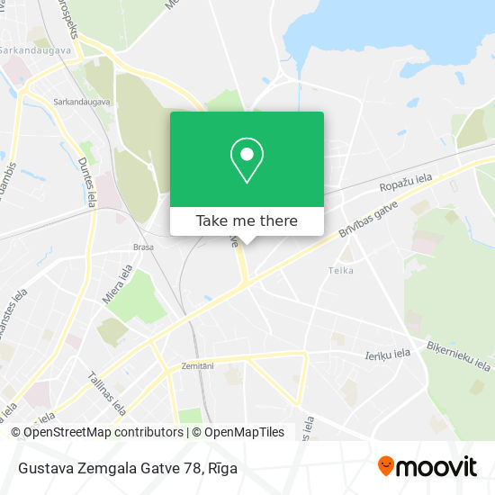 Gustava Zemgala Gatve 78 map