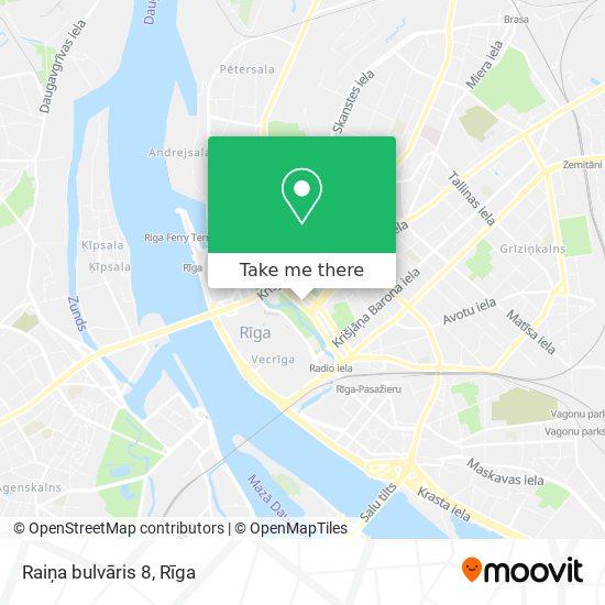 Raiņa bulvāris 8 map