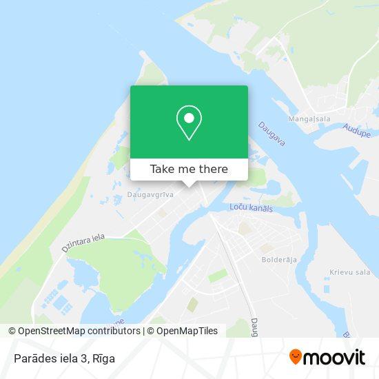 Parādes iela 3 map