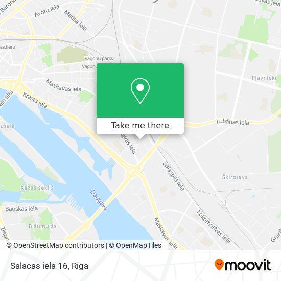 Salacas iela 16 map