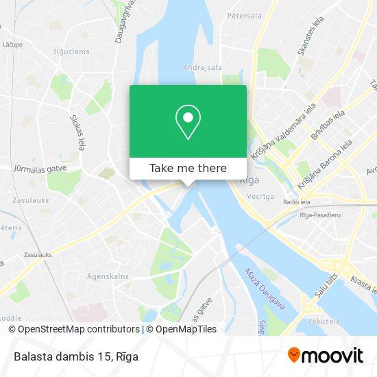 Balasta dambis 15 map