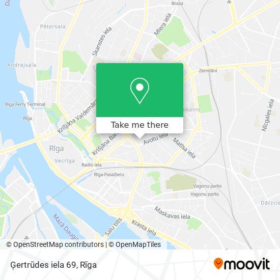Ģertrūdes iela 69 map