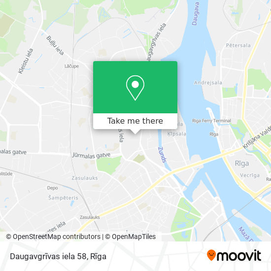 Daugavgrīvas iela 58 map