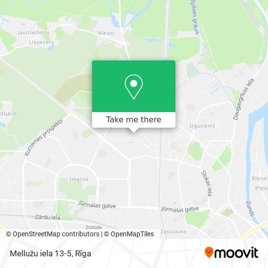Mellužu iela 13-5 map