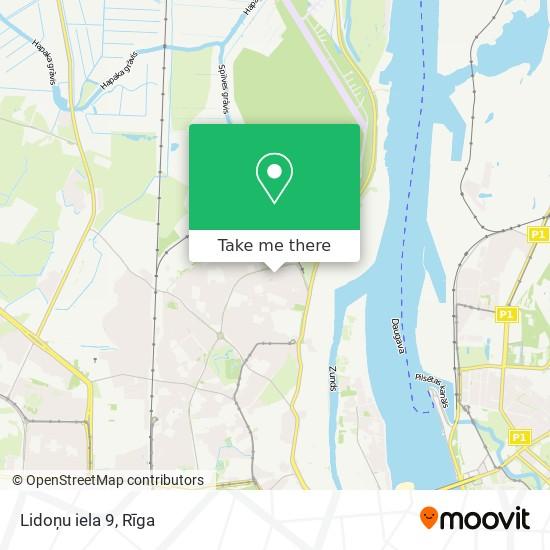 Lidoņu iela 9 map