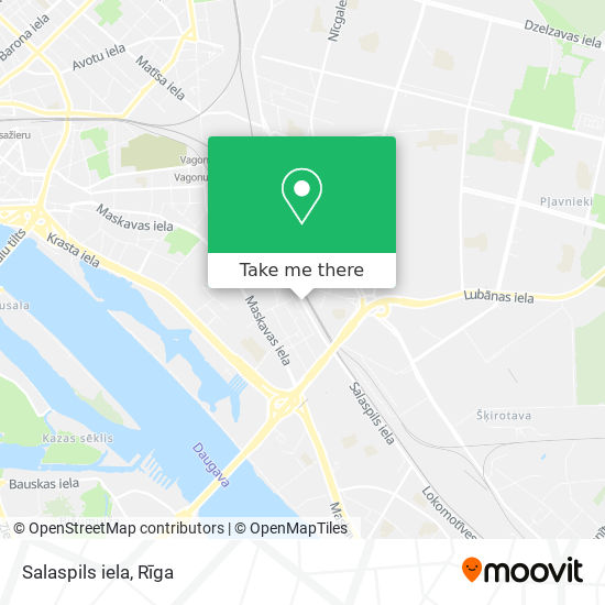 Salaspils iela map