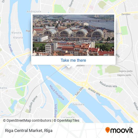 Riga Central Market map