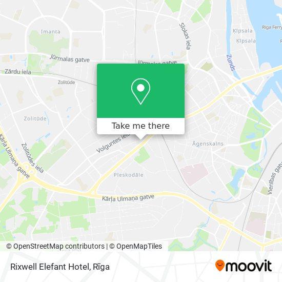 Rixwell Elefant Hotel map