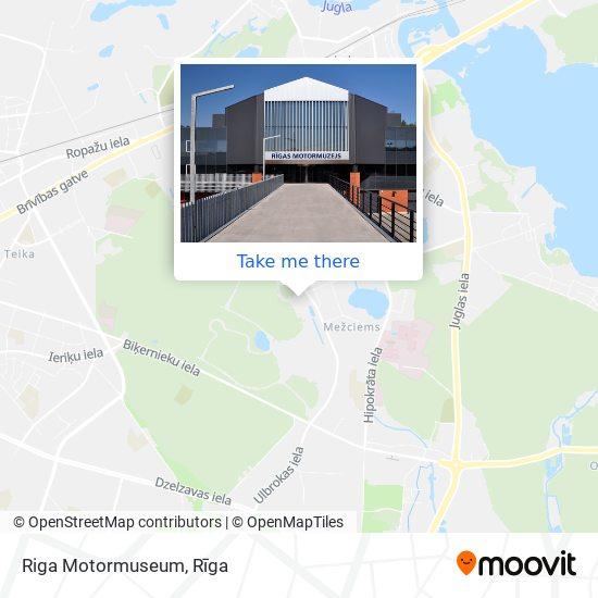 Riga Motormuseum map
