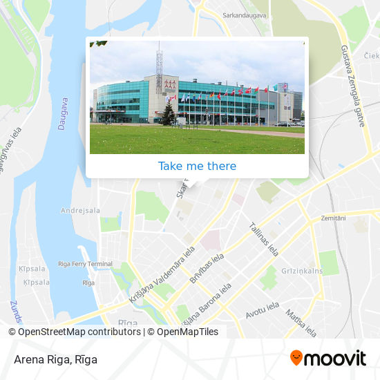 Arena Riga map