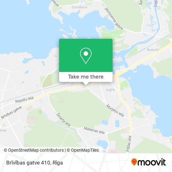 Brīvības gatve 410 map