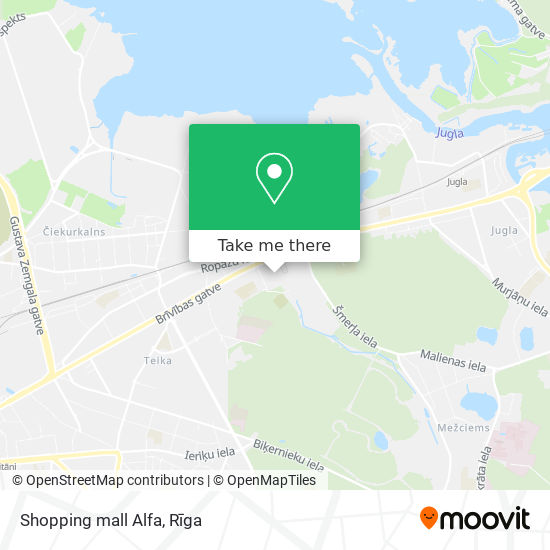 Shopping mall Alfa map