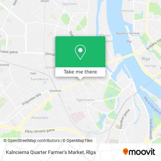 Kalnciema Quarter Farmer's Market map