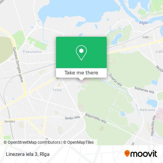 Linezera iela 3 map