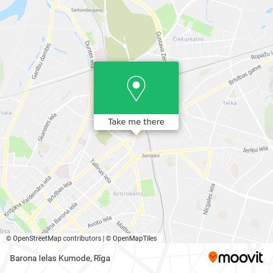 Barona Ielas Kumode map