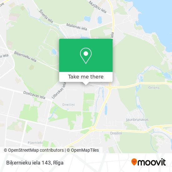Biķernieku iela 143 map
