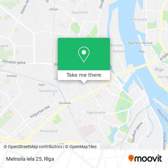 Melnsila iela 25 map