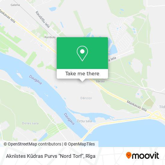 """Aknīstes Kūdras Purvs """"Nord Torf"""" map"""