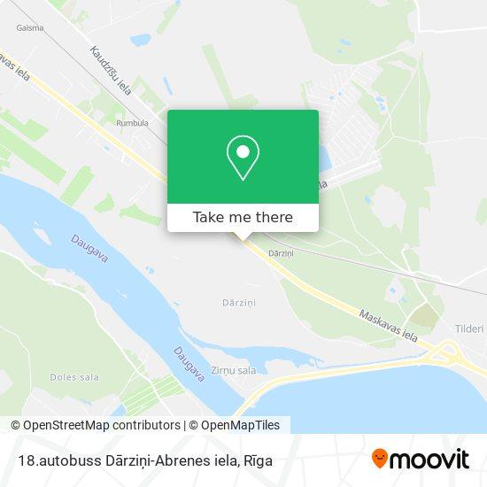 18.autobuss Dārziņi-Abrenes iela map