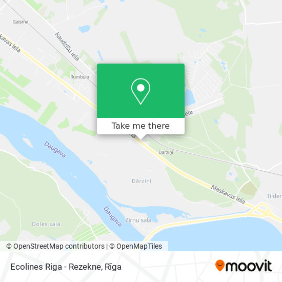 Ecolines Riga - Rezekne map