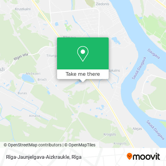 Rīga-Jaunjelgava-Aizkraukle map