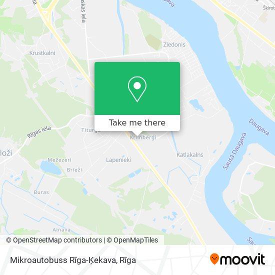 Mikroautobuss Rīga-Ķekava map