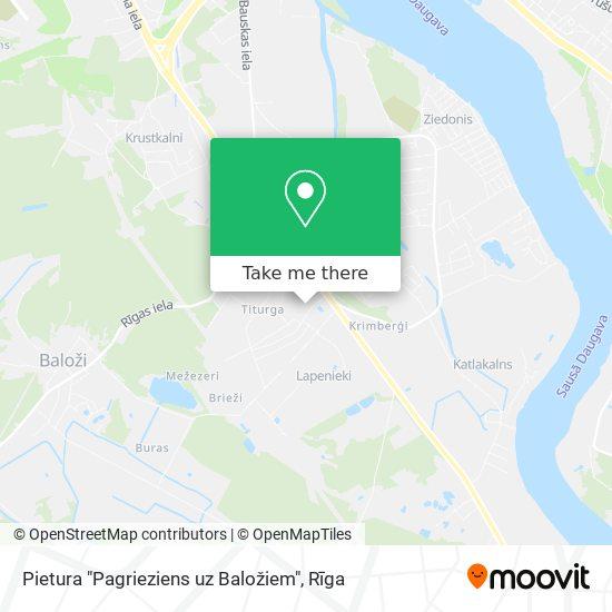 """Pietura """"Pagrieziens uz Baložiem"""" map"""