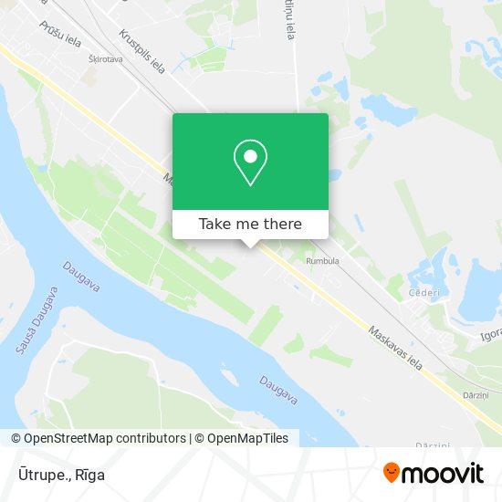 Ūtrupe. map