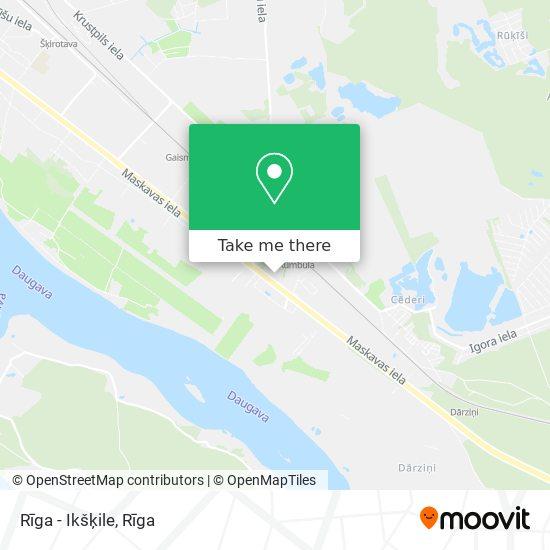 Rīga - Ikšķile map