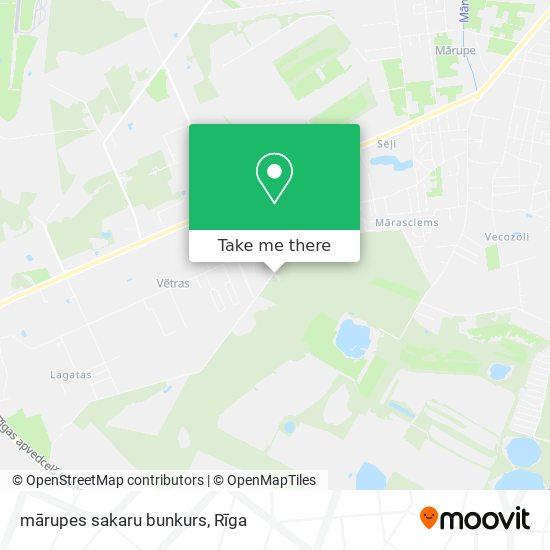 mārupes sakaru bunkurs map