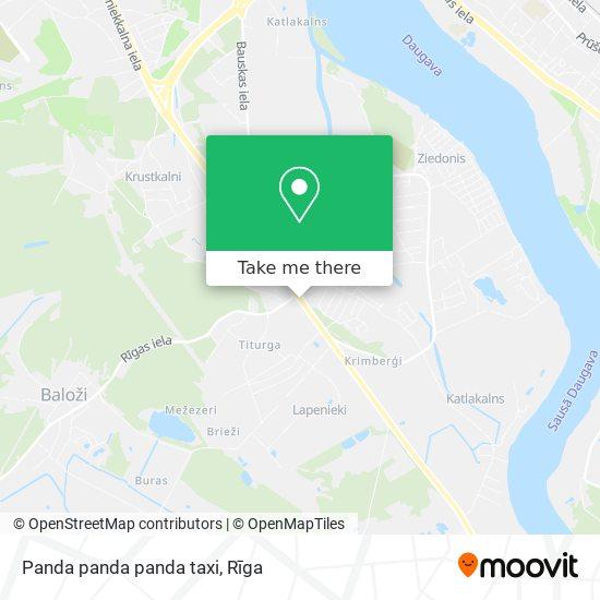 Panda panda panda taxi map