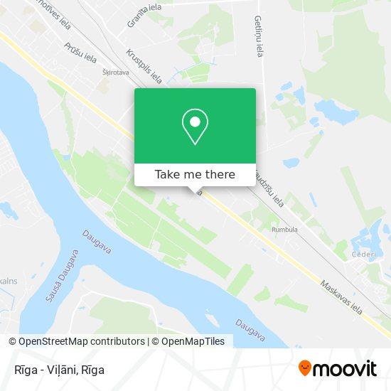 Rīga - Viļāni map