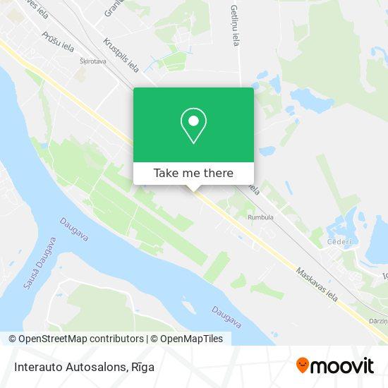 Interauto Autosalons map