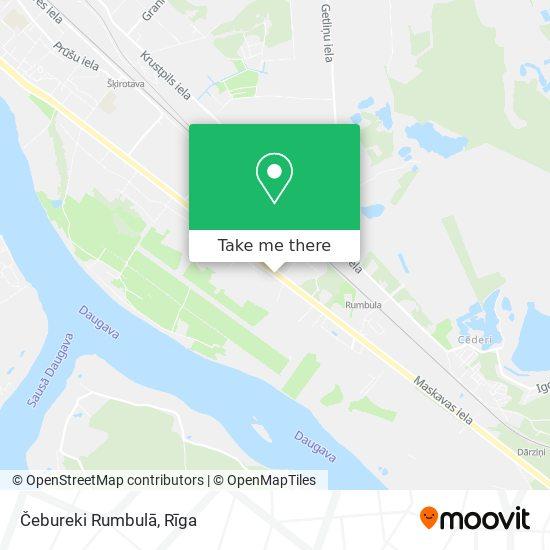 Čebureki Rumbulā map