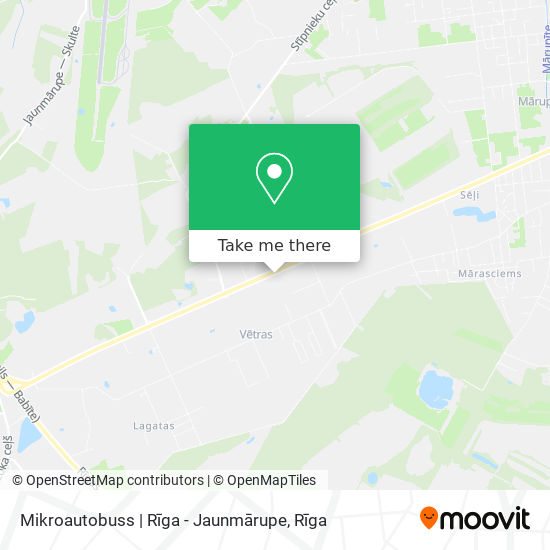 Mikroautobuss | Rīga - Jaunmārupe map