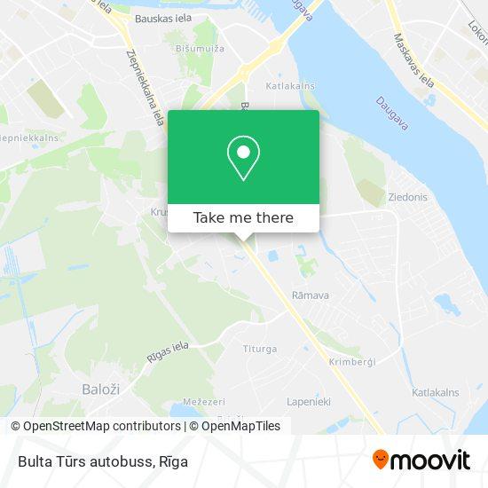 Bulta Tūrs autobuss map