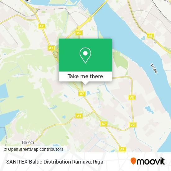 SANITEX Baltic Distribution Rāmava map