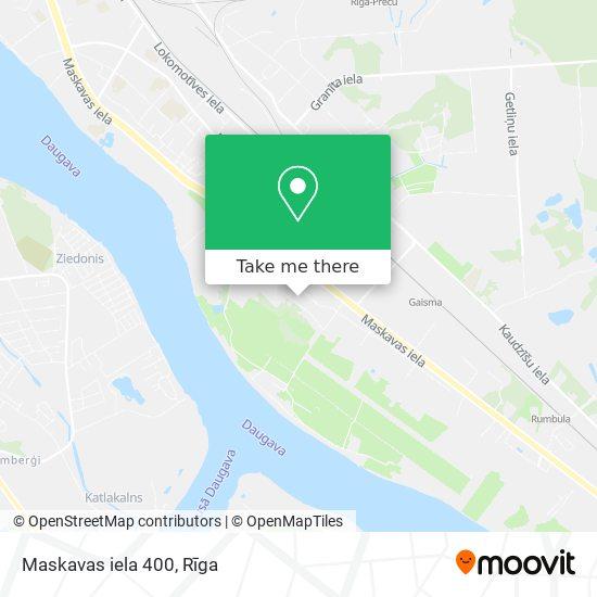 Maskavas iela 400 map