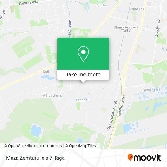 Mazā Zemturu iela 7 map