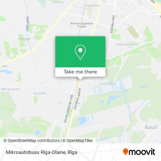 Mikroautobuss Rīga-Olaine map