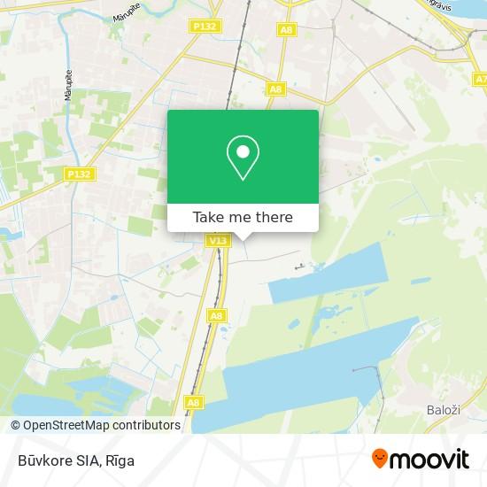 Būvkore SIA map