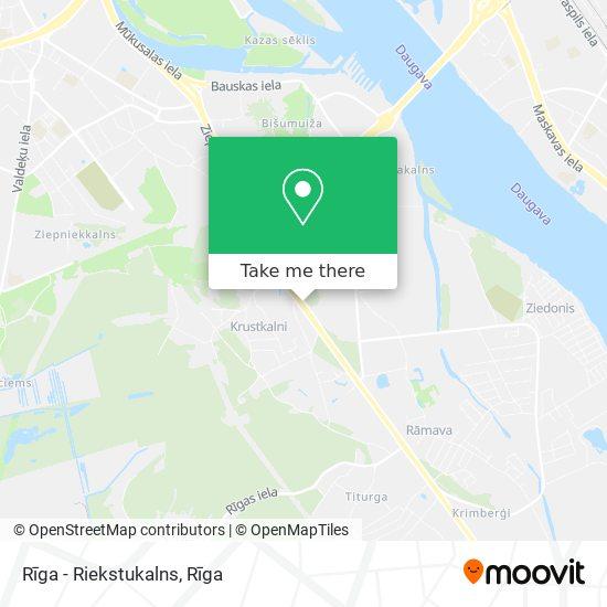 Rīga - Riekstukalns map