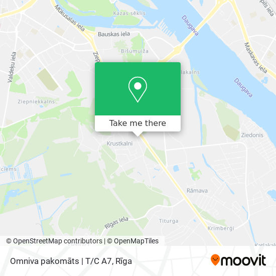 Omniva pakomāts   T/C A7 map