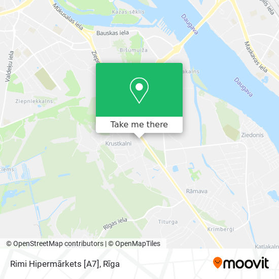 Rimi Hipermārkets [A7] map