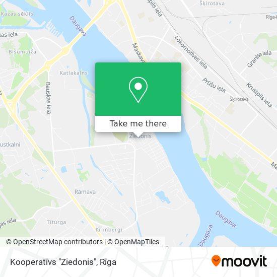 """Kooperatīvs """"Ziedonis"""" map"""
