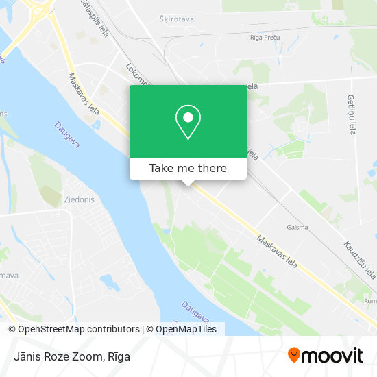 Jānis Roze Zoom map