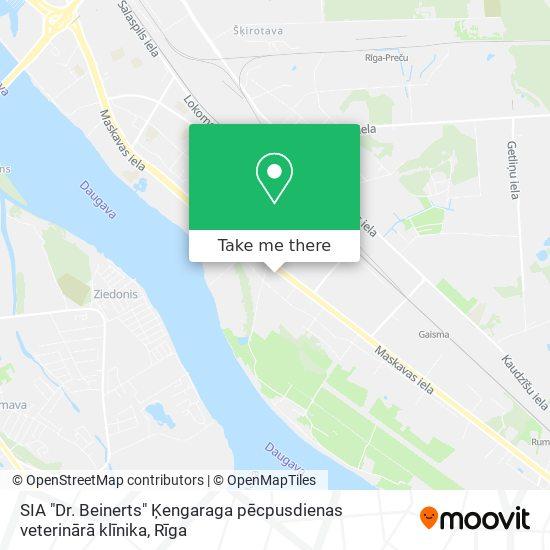 """SIA """"Dr. Beinerts"""" Ķengaraga pēcpusdienas veterinārā klīnika map"""