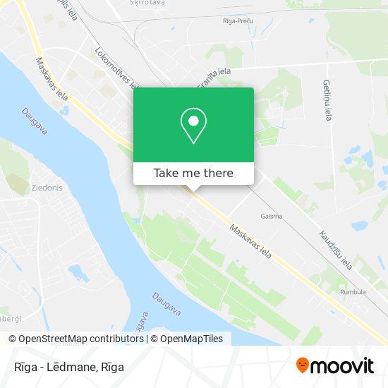 Rīga - Lēdmane map
